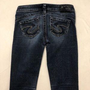 Silver Tuesday 16 1/2 Skinny Dark Blue Jeans 26x33